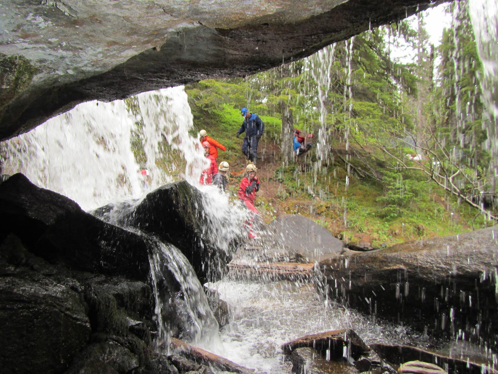 Cave trip to Bergsjögrottan