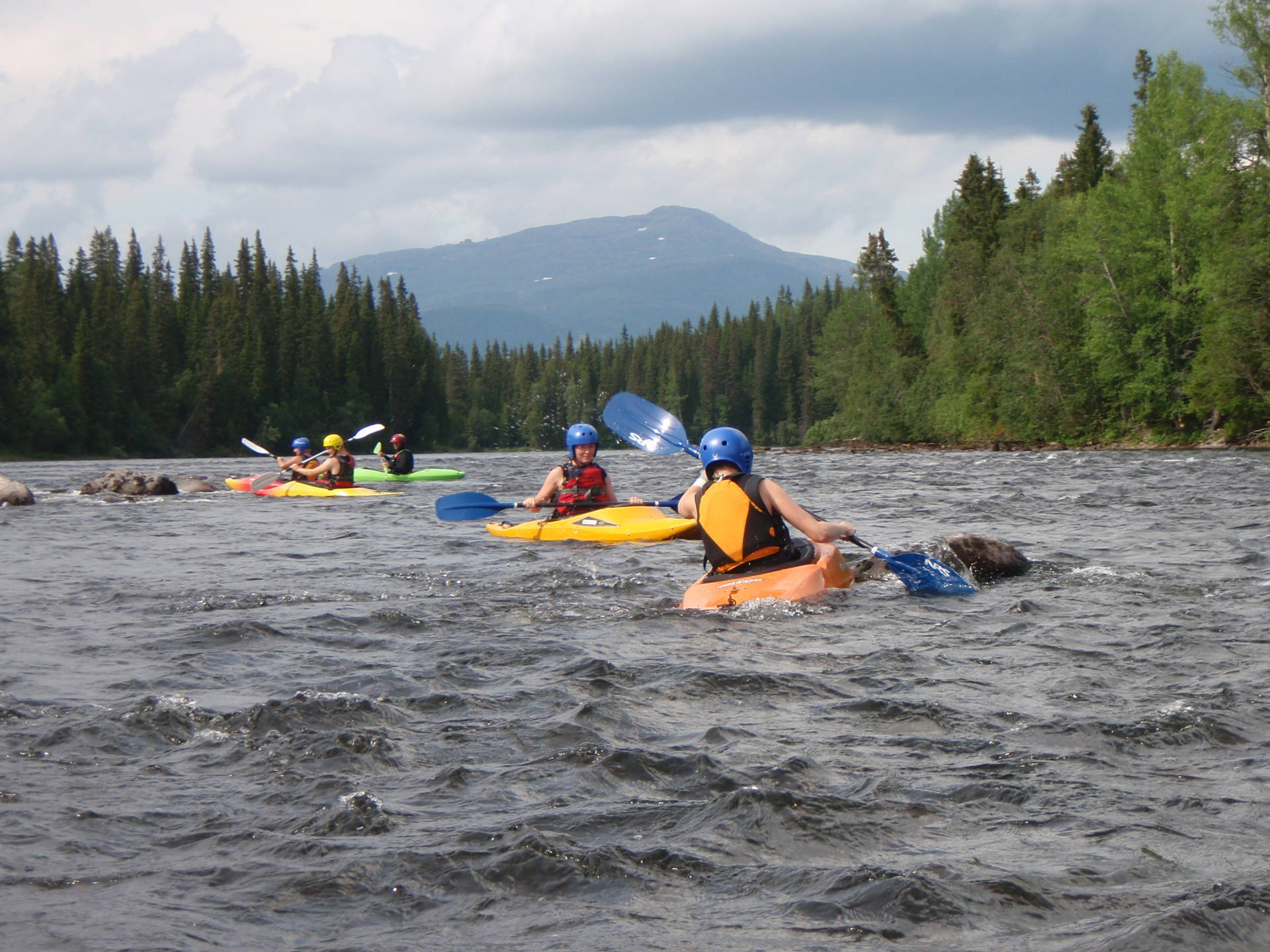 White water kayak in Åre